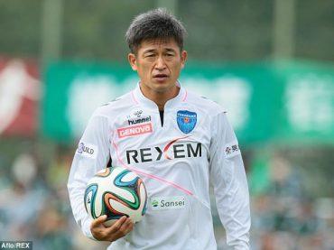 Miura prekonal vlastný rekord, skóroval vo veku 50 rokov