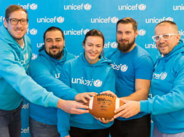 """UNICEF a Slovenská asociácia amerického futbalu (SAAF) spojili svoje sily: """"Aby každé dieťa malo športové zážitky a príležitosť sa rozvíjať."""""""