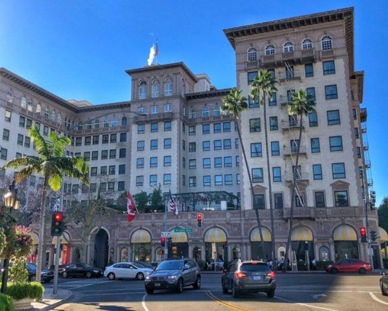 Beverly Wilshire Hotel, kde sa odohrával film Pretty Woman
