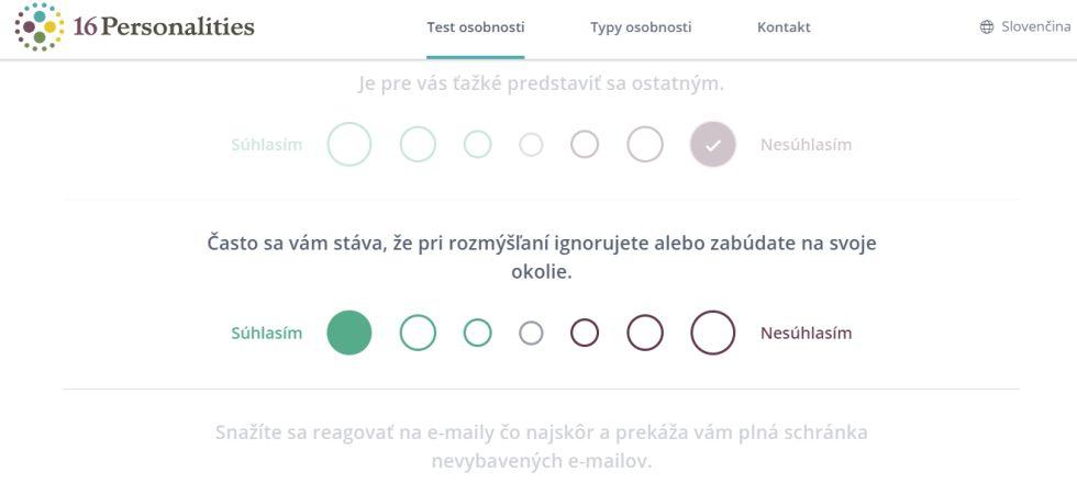 test osobnosti