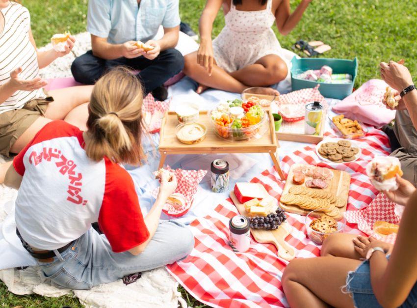 piknik s kamarátmi