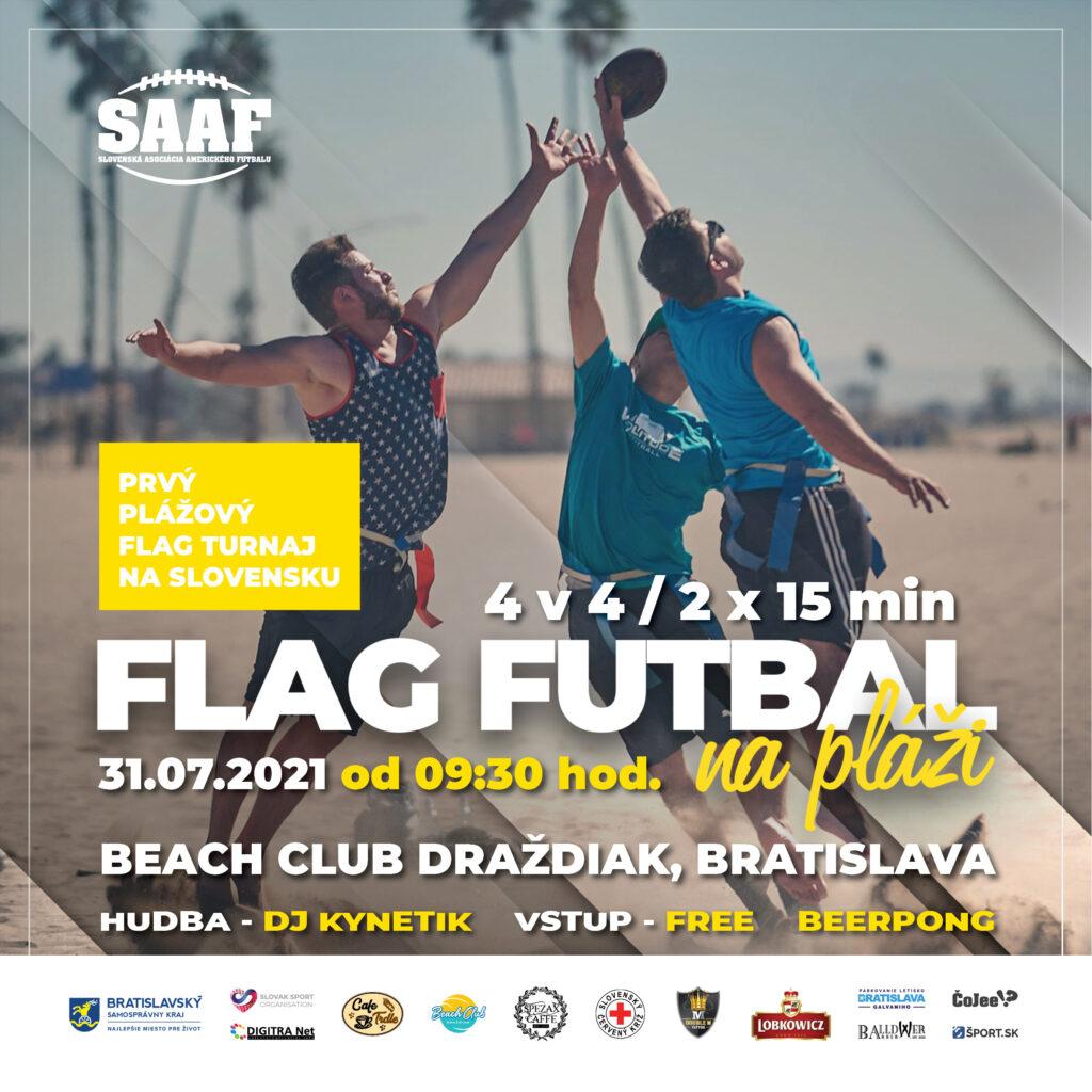 flag futbal na pláži